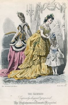 January fashions, 1871 England, Englishwoman's Domestic Magazine