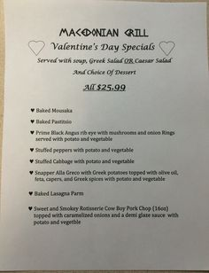 Bring your Valentine in to try these Amazing Specials and support your LOCAL COMMUNITY, mention Brigantine SharkPark and we will donate 20% of your bill towards the remodeling of The Shark Park Play ground. Read the local paper to see which other businesses are also supporting and donating.We are doing this every Saturday for the month of February .
