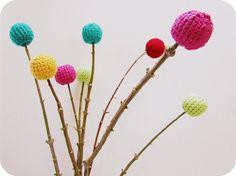 crochet flowers, cute!