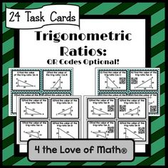 Trigonometric ratios poster math class signs posters pinterest included in this set are 24 task cards that ask students to find trigonometric ratios fandeluxe Images