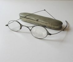 SALE Vintage Antique Oval Eyeglasses with by jewelryandthings2, $28.00