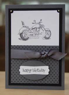 Motorcycle card - Julie's Japes - An Independent Stampin' Up! Demonstrator in the UK