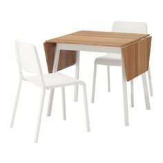 IKEA PS 2012 / TEODORES Table and 2 chairs, bamboo white, white