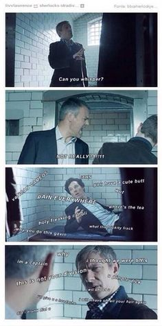 Lestrade is not a hangover sympathizer