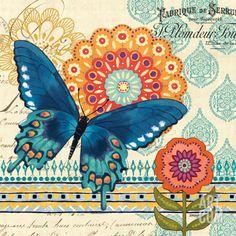 Butterfly Ballad IV Art Print by Jennifer Brinley at Art.com