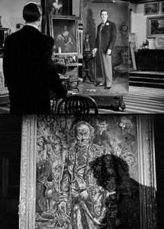 The Picture Of Dorian Gray...the painting by Ivan Albright is featured in the film. The painting is now on display @ the Art Institute Chicago, it is absolutely amazing. I was just there admiring it..I wrote a paper on this piece for school.