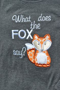 What Does the Fox Say long sleeve shirt by evmodernbaby on Etsy
