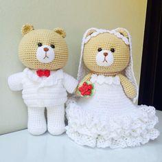 «#teddybear #bear #dolls #amigurumi #adorable #handmade #handcraft #diy #yarn #crochet #crocheted #crocheting #crochetaddict #wedding #love #happy #cute…»