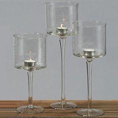 8.95 Windlichtkelch, Kerzenhalter, Windlicht, Tinka, Glas Kerzenhalter ca.25 cm Höhe