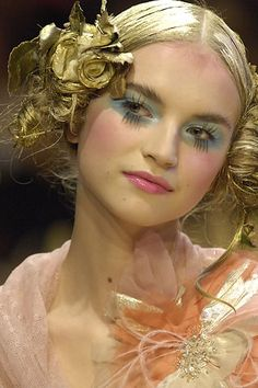 John Galliano, hair, make up, catwalk, fashion