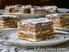 KÉP             Hozzávalók:  1 csomag (45 dkg) fagyasztott leveles tészta (nálam Frosta)  2 evőkanál keserű kakaópor  1 kávéskanál fahéj  ...