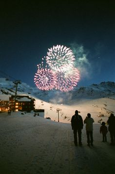 Fireworks in the Snow