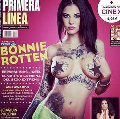 Bonnie Rotten - Primera Linea Magazine Cover