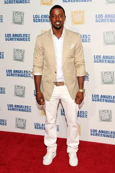 Tall, Dark and Handsome Lance Gross attends Twentieth Century Fox Television Distributions 2013 LA Screenings Lot Party at Twentieth Century Fox Studio Lot in Los Angeles, California.