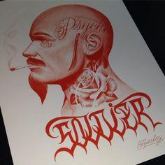 "154 curtidas, 6 comentários - Harley Tattooer (@harleytattooer) no Instagram: ""soldier #studyng #chicano #psycho #mexican #machete #rose #tattooidea #originalart #mexican…"""