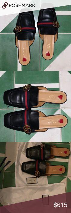 8fdcac8b0b1 Gucci leather slipper in black   - size 40