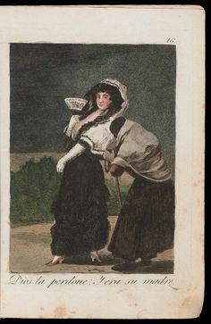 "Dios la Perdone: Y era su madre. (For heaven's sake, and it was her mother); Plate 16 bound into ""Los Caprichos"" | Museum of Fine Arts, Boston"