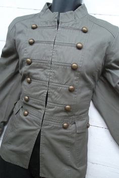 Vintage Gothic Military jacket Russian renaissance Steampunk jacket coat L Mens womens ladies Unisex