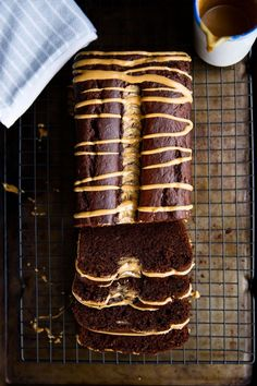 Chocolate peanut butter banana bread is a crowd-pleasing winter treat. This bread is a powerhouse of flavor that'll have you coming back for a second slice! | via Broma Bakery
