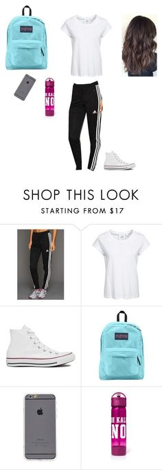 """7th grade start test day outfit"" by kemihereee ❤ liked on Polyvore featuring adidas, Cheap Monday, Converse and JanSport"