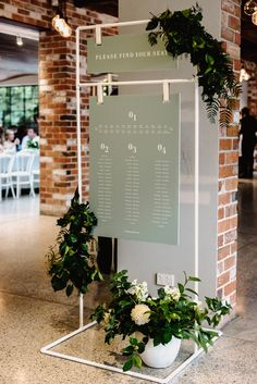 Another one of our seating chart for Emma and Kyle. Just love the sage and white combo. Hire the white frame with your choice of signage, for events big and small. Thank you for the photo Beautiful wedding at with styling by and flowers . Seating Plan Wedding, Wedding Signage, Wedding Table, Event Signage, Seating Plans, Diy Wedding, Wedding Favors, Foil Wedding Invitations, Wedding Stationary