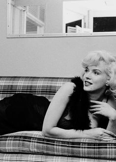 Marilyn Monroe relaxing during the filming of Some Like it Hot, 1959