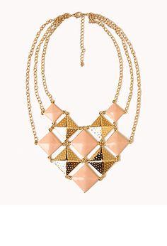 Checker Bib Necklace | FOREVER 21 - 1027704944