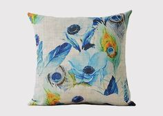 Peacock Tail Cushion - Jasper & Tallow Furniture