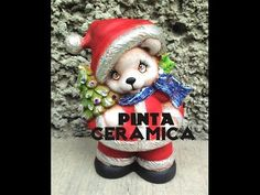 DIY oso navideño de cerámica foil pincel seco paint ceramic christmas. Cerámica Oso Navideño tecnica en Foil, Pincel Seco, si te gusta regalame una manita arriba comparte y Suscribete !! Bendiciones!