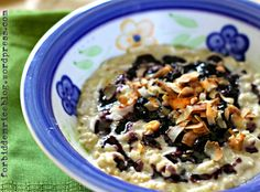 Coconut Morning Pudding with BlueberrySauce