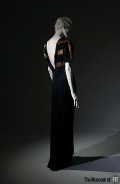 Augustabernard evening dress, 1933. Collection of The Museum at FIT #1930sfashion