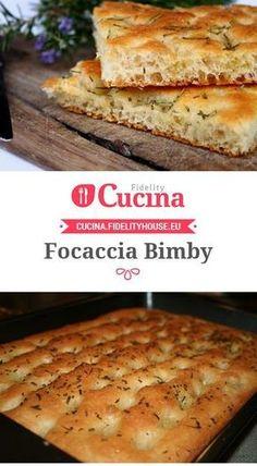 Focaccia bimby Cooking Bread, Cooking Chef, Cooking Recipes, Bread Baking, Focaccia Pizza, Focaccia Recipe, Quiche Recipes, Bread Recipes, Scd Recipes