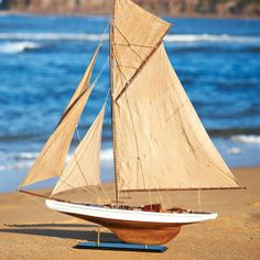 Santorini collection: For the home or office decor, wooden model yachts make perfect nautical gifts.