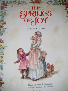 The Springs of Joy by Tasha Tudor Collectible by QVintage on Etsy, $20.00