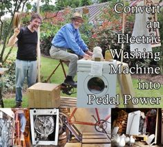 Convert an Electric Washing Machine into Pedal Power