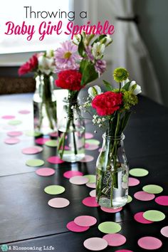 Throwing a Baby Girl Sprinkle (a small baby shower) - DIY ideas for the perfect party. ~:: A Blossoming Life