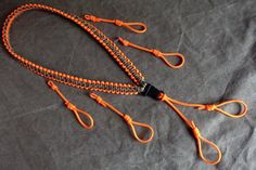 Paracord Duck Call Hunting Lanyard in Multicam and Safety Orange