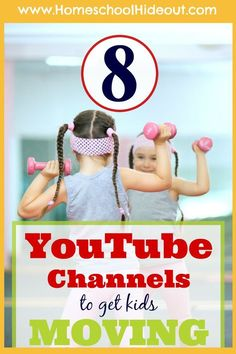 """We are LOVING this list of fun Homeschool PE Channel. My kids beg to do """"YouTube PE"""" now!"""