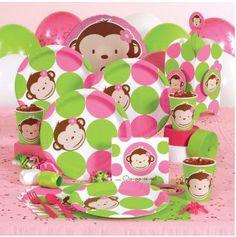 Girl Monkey Birthday, Monkey Birthday Parties, 1st Birthday Party Supplies, Baby First Birthday, Birthday Ideas, Monkey Girl, Birthday Cakes, Monkey Baby, Birthday Stuff