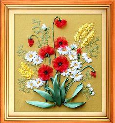 Modernas Pinturas Fita DIY Bordados kit Conjuntos de Flores Bonitas Floral Needlework Artesanato Casa Decoração da parede Do Escritório