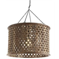 """""""Jarrod Carved Wood Pendant""""; carved wood chandelier w/ mirrored interior; $1346.00; http://stores.rianrae.com/Detail.bok?no=470"""