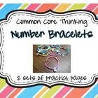 Number Bracelet Practice Pages {2 sets}