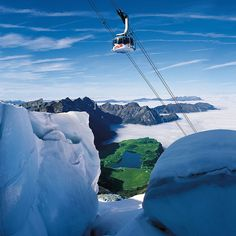 Cableway Gondola to Mount Titlis in Engelberg, Switzerland.