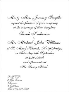 35 Best Wedding Invitation Wording Images Invitation Ideas