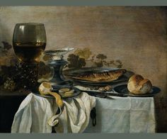 Pieter Claesz, Still Life with Fish, 1647, oil on panel, 64 x 82 cm | Rijksmuseum Amsterdam, Museum for Art and History