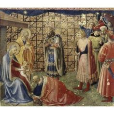 Adoration of the Magi Fra Angelico ca(1400-1455Italian) Canvas Art - Fra Angelico (18 x 24)