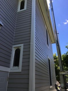 James Hardie Pearl Gray siding installed in Naperville