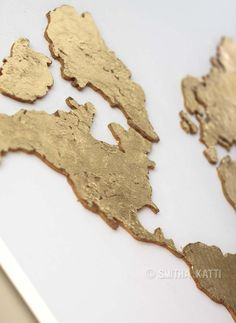Chic Gold World Map World Map Print Black And Gold Home Decor - Black and gold world map