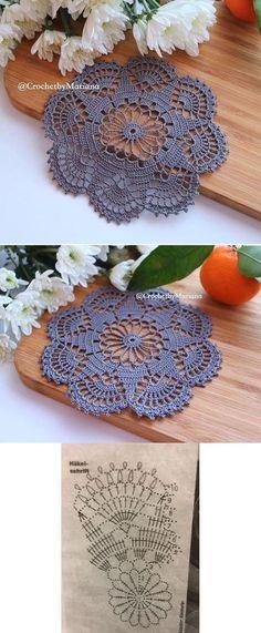 20 New Ideas Crochet Mandala Chart Lace Doilies Crochet Doily Patterns, Thread Crochet, Crochet Motif, Irish Crochet, Crochet Crafts, Crochet Doilies, Crochet Flowers, Crochet Projects, Knitting Patterns