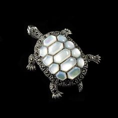 Luke Stockley Mar... Just added to website! Take a look!  http://www.alexandramay.com/products/marcasite-turtle-mother-of-pearl-pendant-brooch-mop?utm_campaign=social_autopilot&utm_source=pin&utm_medium=pin